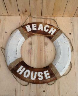 Rettungsring Holz Beach House