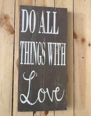 Bild groß Do all Things with love VI