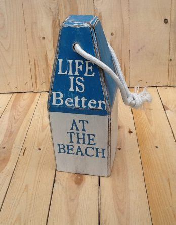 Boie blau weiss Life is better at the beach II