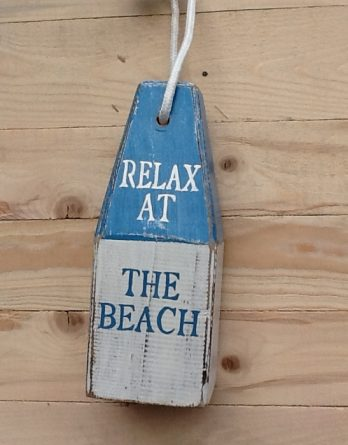 Boie blau weiss Relax at the beach