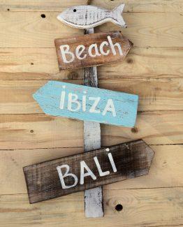 Ibiza Bali holzschild