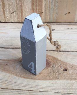 Boie aus Holz grau