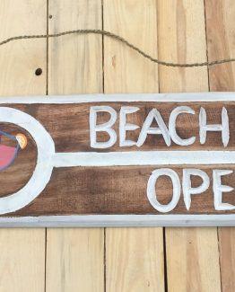 Wandschild Deko Beach Bar Open