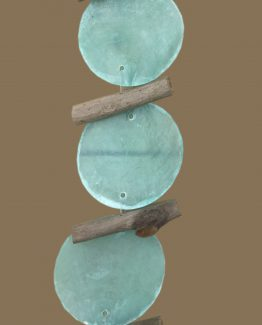 girlande mintgruen - braun