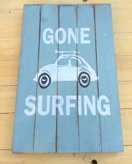 Holzbild Gone surfing vw kaefer III (Medium)