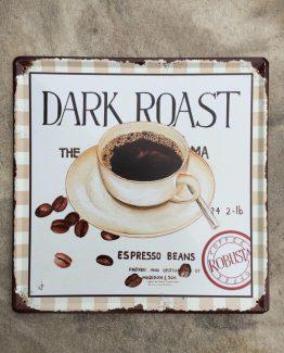 text schild metall coffee