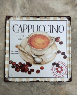 metallschild cappuccino