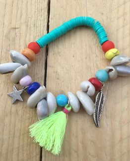 armband  mit muscheln und perlen