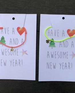 weihnachten postkarten mit anhaenger