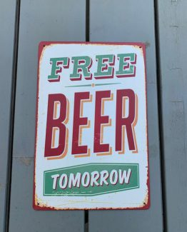 Free Beer Metalschild
