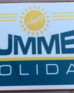 summer holiday metall-schild