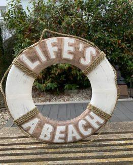 rettungsring life`s a beach stranddeko
